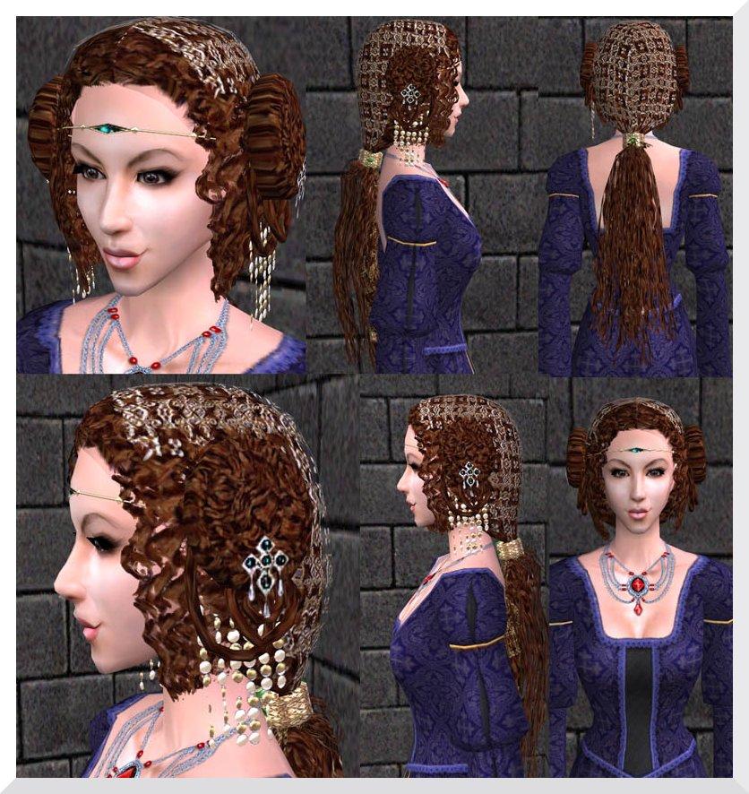 Coiffure inspirée de la période Coiffure avec chapeau pour Scarlett La coiffure de la Duchesse Urbino Renaissance italienne pour femme.