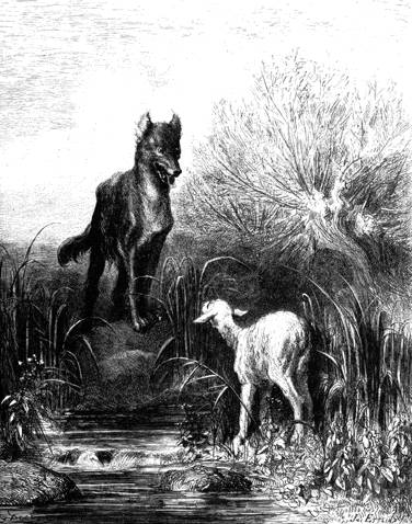 Loup agneau - Dessin loup et agneau ...