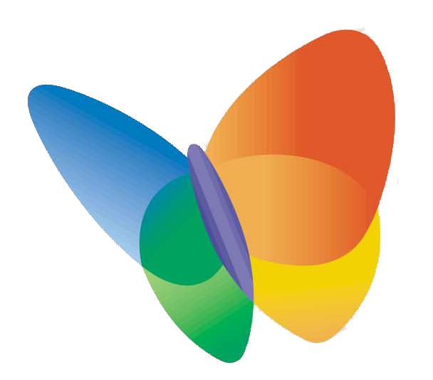Logo Papillon 4 Couleurs