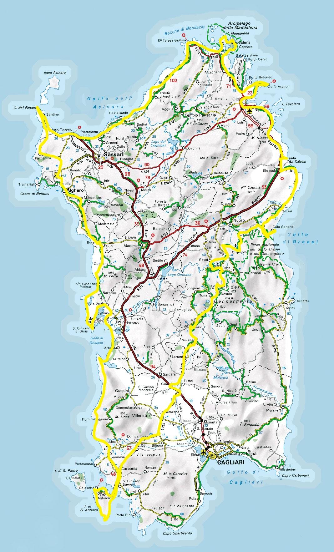 Infos sur : sardaigne carte geographique   Arts et Voyages